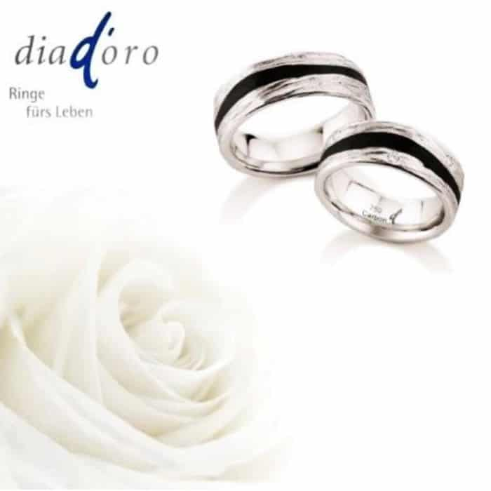 Diadoro Partnerringe Weissgold und Carbon | Landanzeiger-Shopping