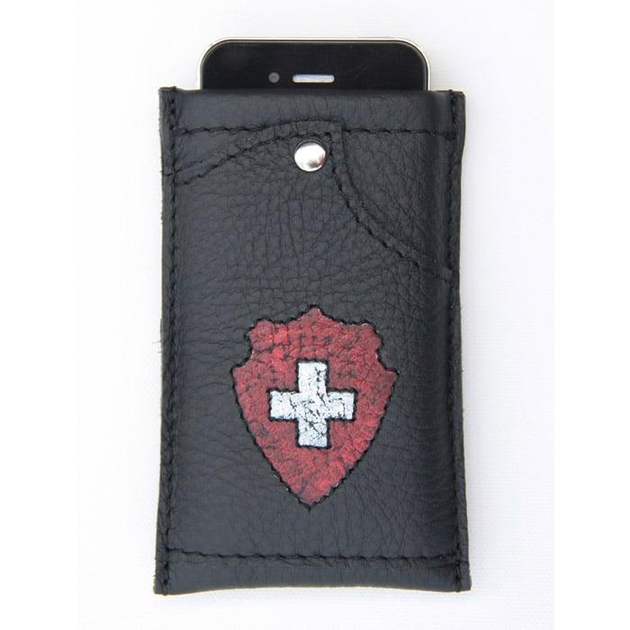 Handy Hülle aus Leder mit Kreditkartenfach   Landanzeiger-Shopping
