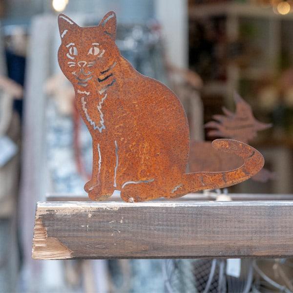 Rostige Katze aus Metall | Landanzeiger-Shopping