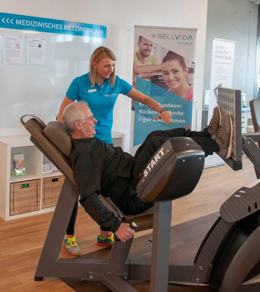 Fritz Messerli bei BellVida Training | Landanzeiger-Shopping