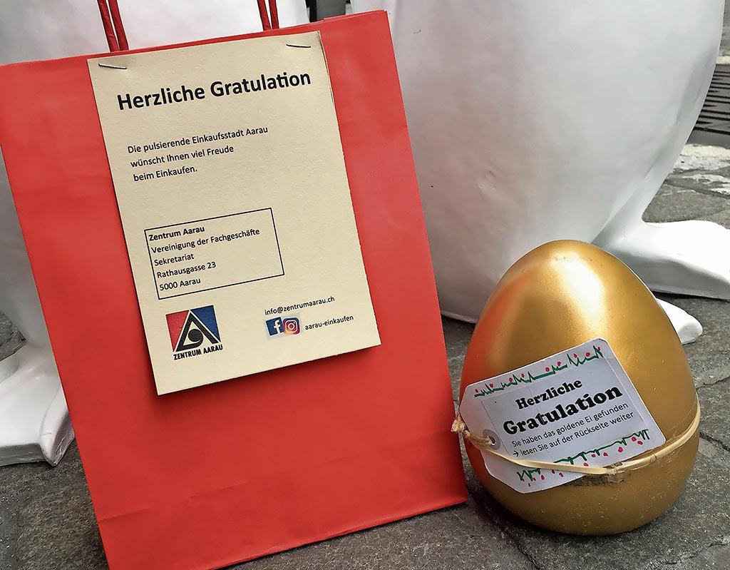 Das goldene Aarauer Shopping Ei | Landanzeiger-Shopping