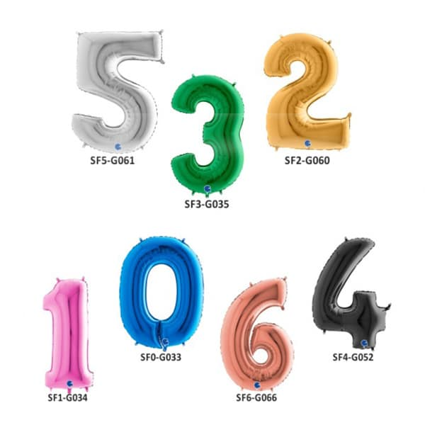 Folienballone-Zahlen