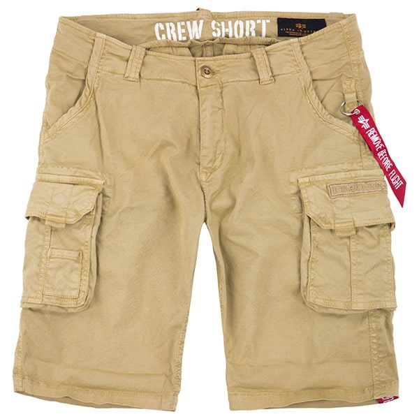 Alpha Industries Crew Short Sand Khaki | Landanzeiger-Shopping