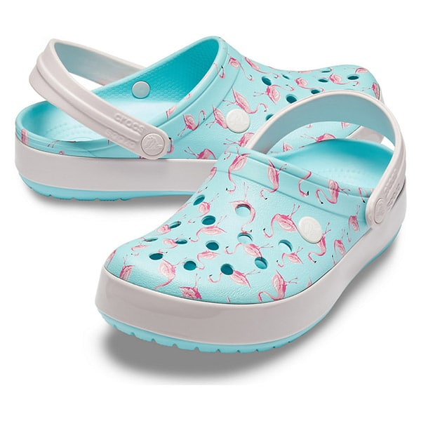 free shipping c3ce7 0b615 Crocs Ice Blue Pink