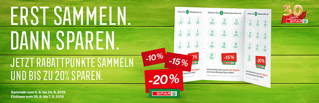 Spar Rabattsammelaktion August 2019 | Landanzeiger-Shopping