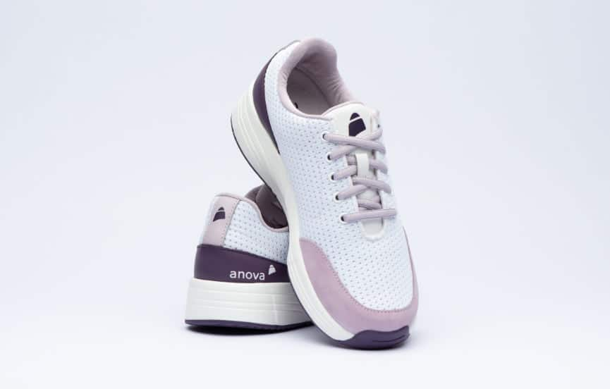 "Anova Schuhe ""Angelina Whithe Bright Purple"" 