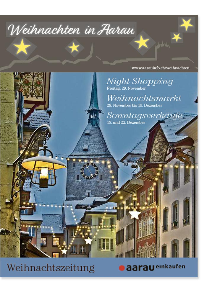Weihnachtszeitung Aarau 2019 | Landanzeiger-Shopping