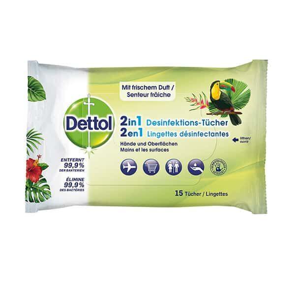 Dettol 2in1 Desinfektionstücher 15 Stück | Landanzeiger-Shopping