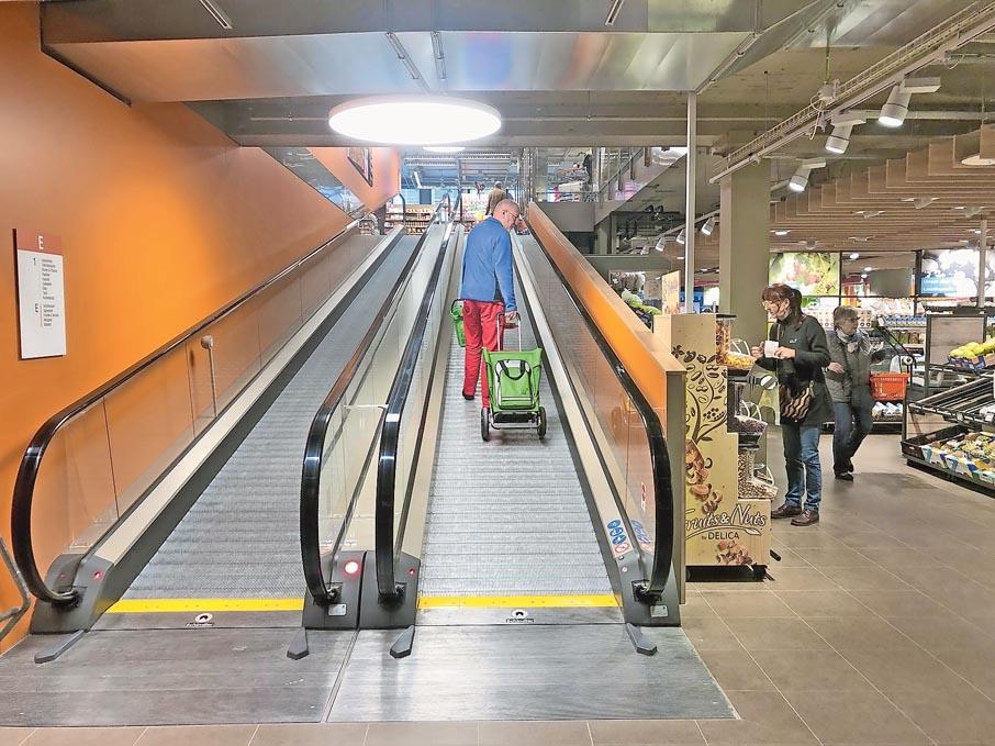 Rollband statt Rolltreppe in der neuen Migros Igelweid Aarau | Landanzeiger-Shopping