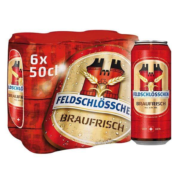 Feldschlösschen Braufrisch 6 x 50 cl Dosen |Landanzeiger-Shopping