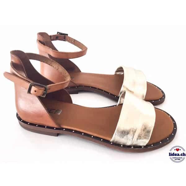 Sandale L'Idea 300 platingold/beige | Landanzeiger-Shopping