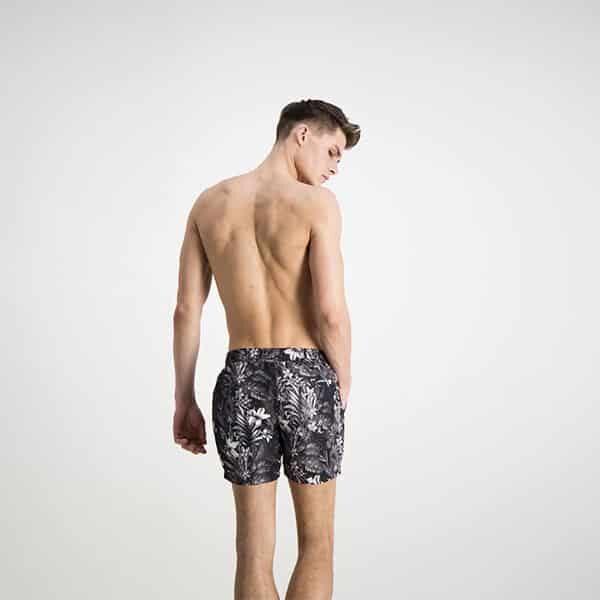Badehose kurz b/w tropical print 02 | Landanzeiger-Shopping