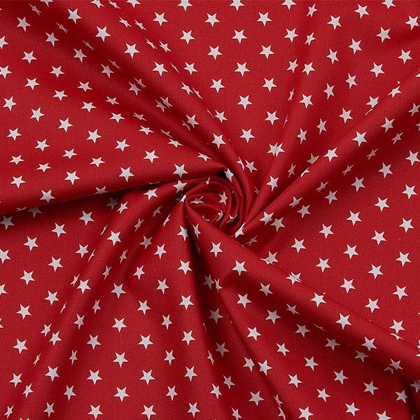 Baumwoll-Popeline Stars rot-weiss | Landanzeiger-Shopping