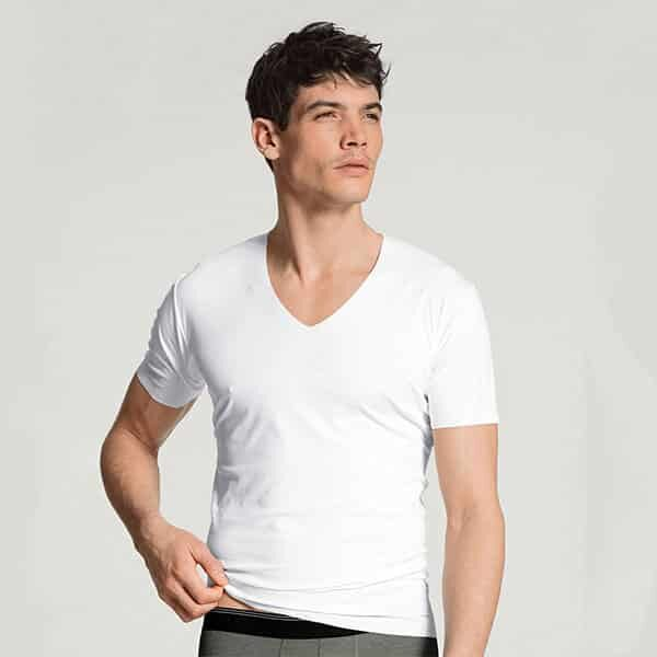 Fresh Cotton V-Shirt Clean Cut Calida 01 | Landanzeiger-Shopping