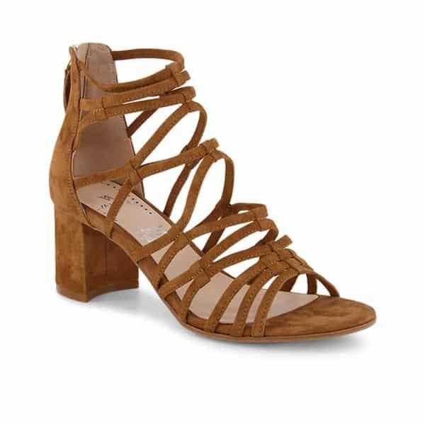 Vanesse Damen hohe Sandalette Cognac 01 | Landanzeiger-Shopping