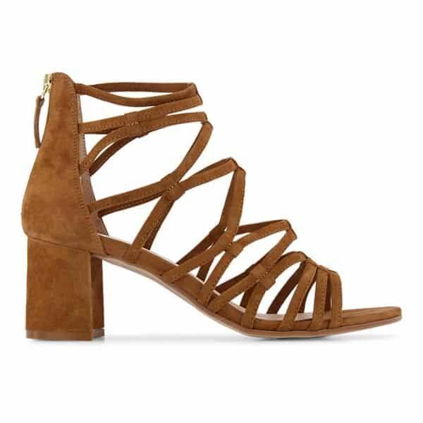 Vanesse Damen hohe Sandalette Cognac 02 | Landanzeiger-Shopping
