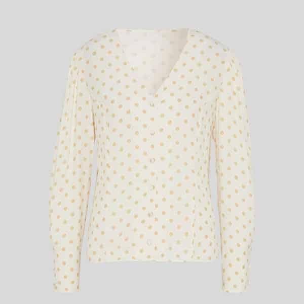 Bluse mit Ballonärmeln gepunktet 04 | Landanzeiger-Shopping