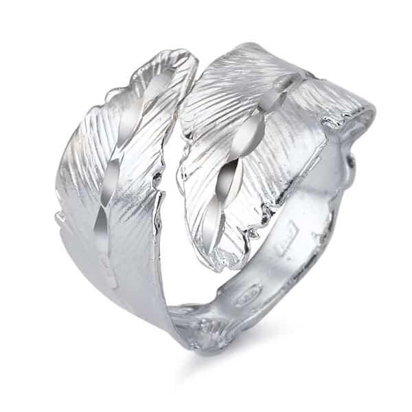 Fingerring Silber Feder 01 | Landanzeiger-Shopping