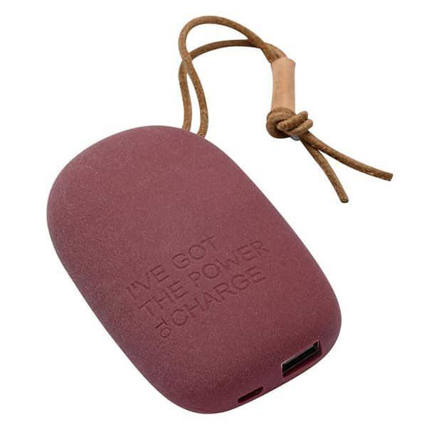 Kreafunk Powerbank to Charge 6700mAh red plum 02 | Landanzeiger-Shopping