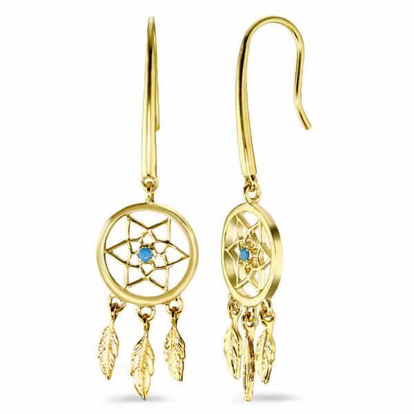 Ohrhänger Bronze vergoldet Traumfänger | Landanzeiger-Shopping