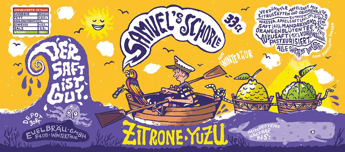 Samuel's Schorle Zitrone Yuzu bei Rio Getränkemarkt | Landanzeiger-Shopping
