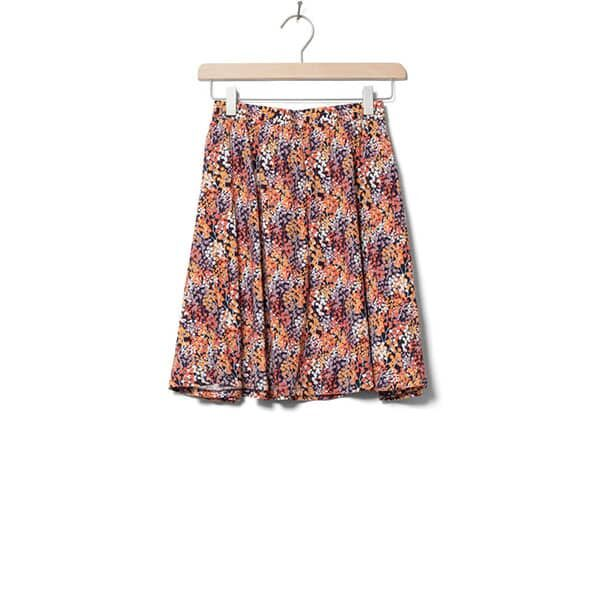 Wemoto Skirt Rations Printed Orange Navy Blue 01 | Landanzeiger-Shopping
