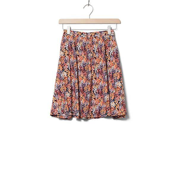 Wemoto Skirt Rations Printed Orange Navy Blue 01 | Landanzeiger-Shopping