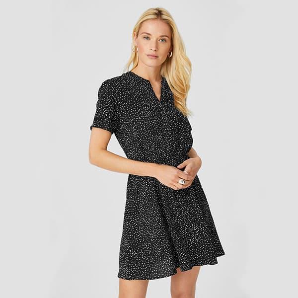 Fit & Flare Kleid Yessica gepunktet 01 | Landanzeiger-Shopping