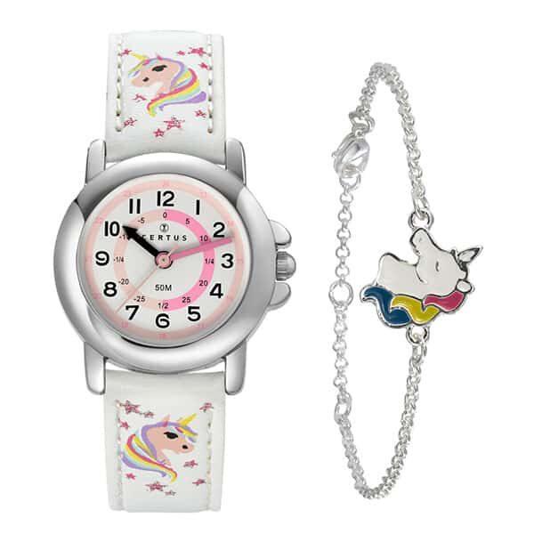 Einhorn Uhr Edelstahl 25 cm 01 | Landanzeiger-Shopping