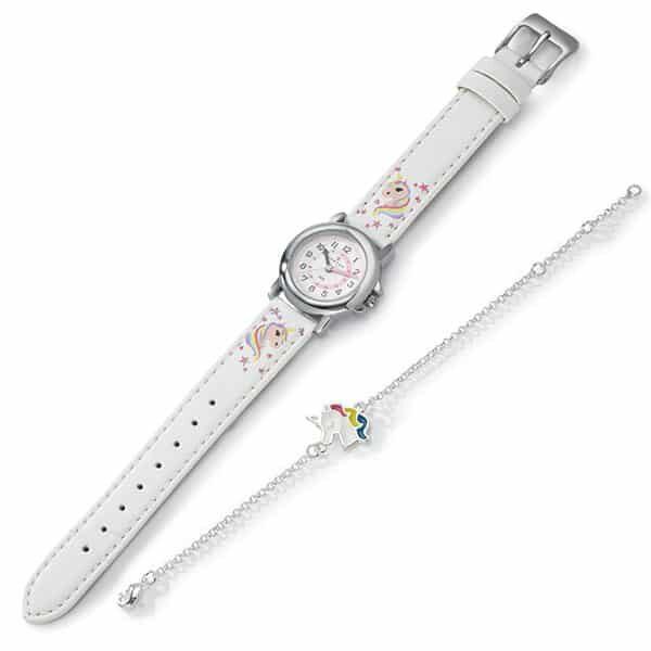 Einhorn Uhr Edelstahl 25 cm 02 | Landanzeiger-Shopping