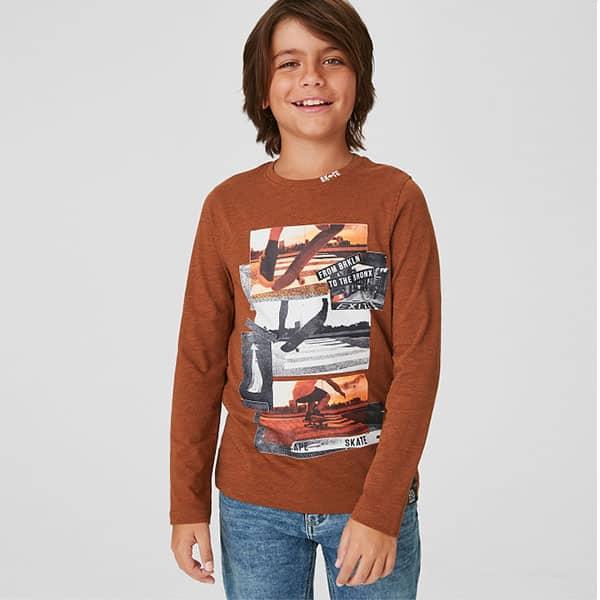 Langarmshirt für Jungen mit Skatermotiven 01 | Landanzeiger-Shopping