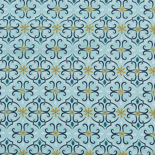 Bio-Baumwolle Stoff Ornamente mintgrün 01 | Landanzeiger-Shopping