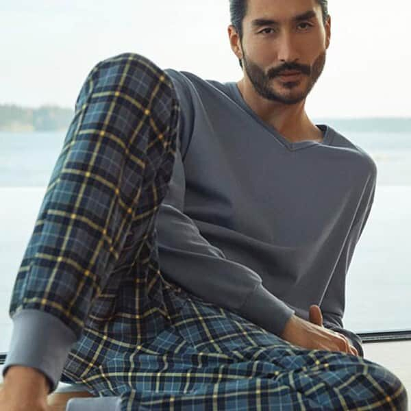 Pyjama Men Calida Casual Warmth | Landanzeiger-Shopping