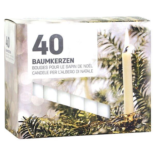 40 Weihnachtsbaum-Kerzen weiss | Landanzeiger-Shopping