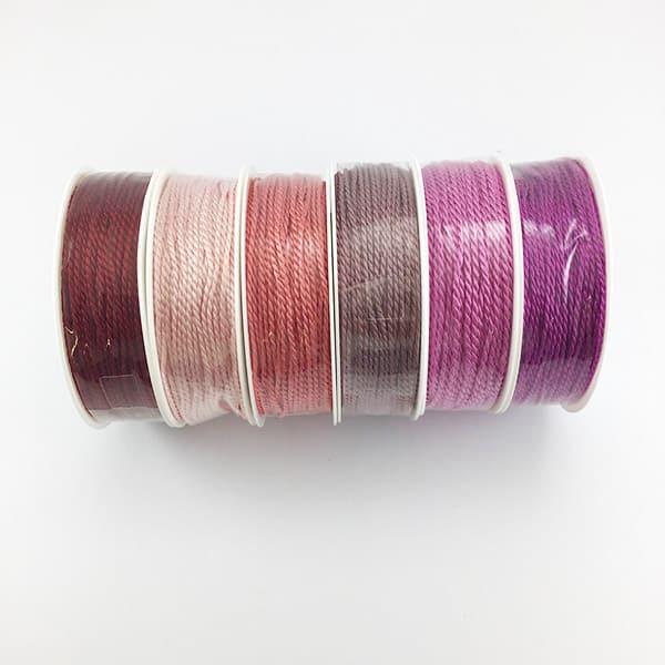 Kordeln 2 mm Rosa-/Violett-Töne   Landanzeiger-Shopping