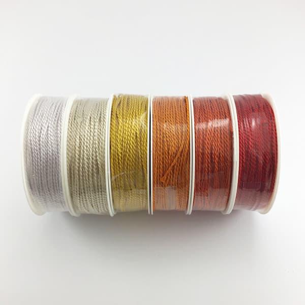 Kordeln 2 mm Rot/Gelb-Töne   Landanzeiger-Shopping