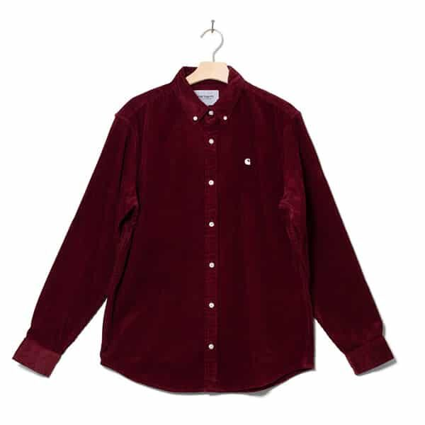 Carhartt WP Shirt Madison red bordeaux 01 | Landanzeiger-Shopping