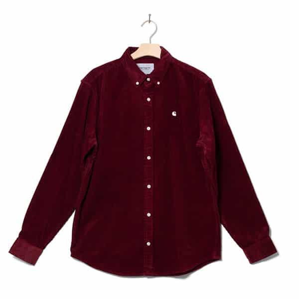 Carhartt WP Shirt Madison red bordeaux 01 |Landanzeiger-Shopping