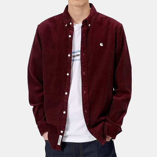 Carhartt WP Shirt Madison red bordeaux 02 | Landanzeiger-Shopping