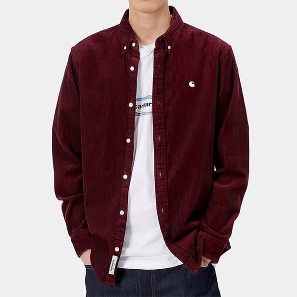 Carhartt WP Shirt Madison red bordeaux 02 |Landanzeiger-Shopping