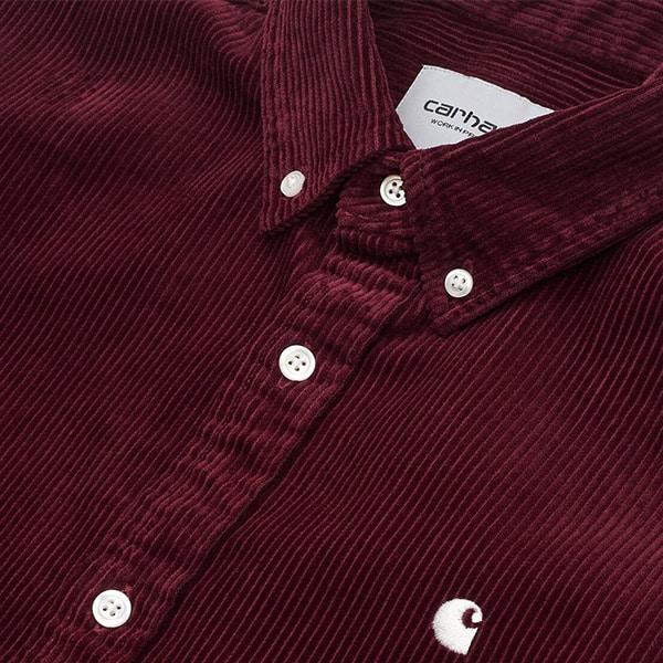 Carhartt WP Shirt Madison red bordeaux 04 |Landanzeiger-Shopping