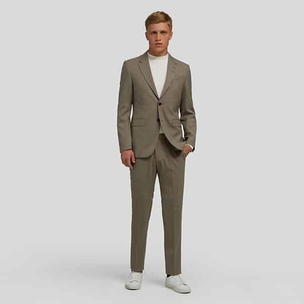 Anzug Taupe Tiger of Sweden 2-teilig Slim Fit 01   Landanzeiger-Shopping