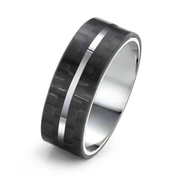 Fingerring Edelstahl Carbon | Landanzeiger-Shopping