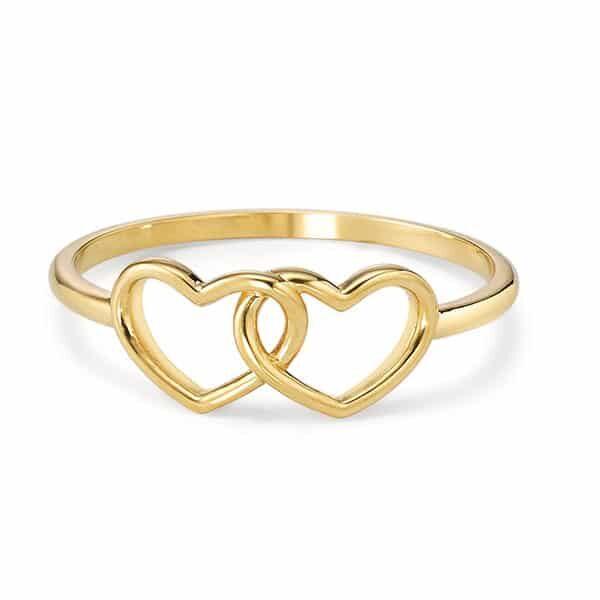 Fingerring 750/18 K Gelbgold Herz 02 | Landanzeiger-Shopping