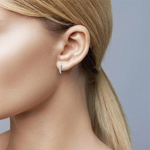 Klappcreolen Silber Zirkonia rhodiniert 02 | Landanzeiger-Shopping