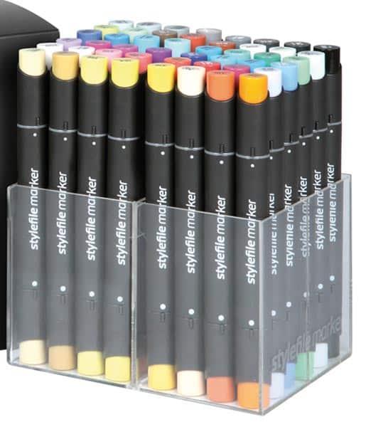 Marker Sets Stylefile im Acryldisplay | Landanzeiger-Shopping
