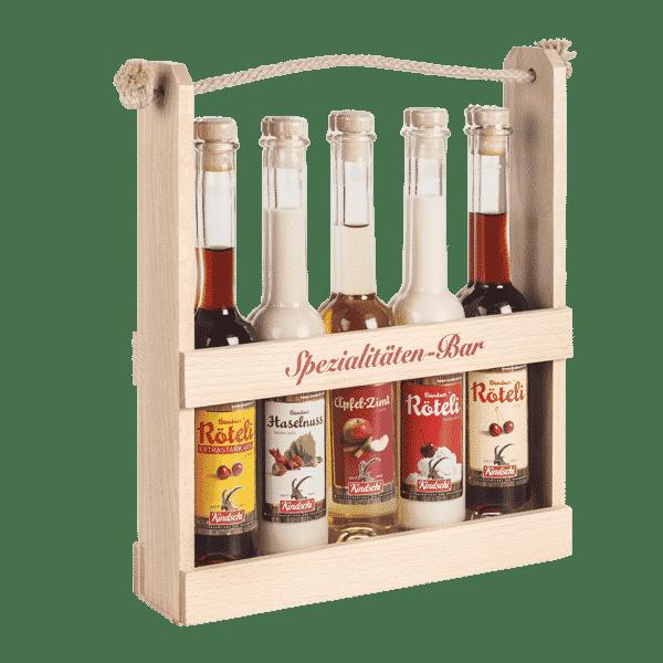 Spezialitäten Bar mit Kindschi-Röteli Produkten | Landanzeiger-Shopping