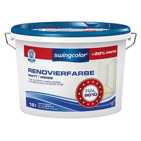 Renovierfarbe Matt/Weiss RAL 9010 | Landanzeiger-Shopping
