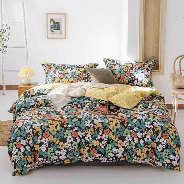 Bettwäsche gelb mit Blumen 02 | Landanzeiger-Shopping