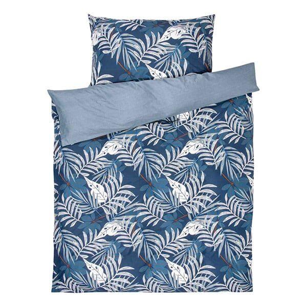 Bettwäsche Blau mit Blättermotiven 01 | Landanzeiger-Shopping